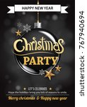 merry christmas party and ball...   Shutterstock .eps vector #767940694