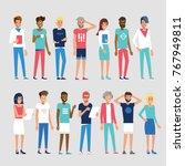 international team. modern... | Shutterstock .eps vector #767949811