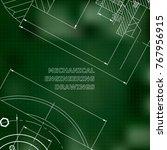 mechanics. technical design.... | Shutterstock .eps vector #767956915