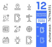 navigation collection icons.... | Shutterstock .eps vector #767966551