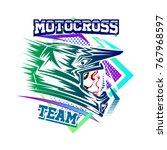 helmet motocross  motocross...   Shutterstock .eps vector #767968597