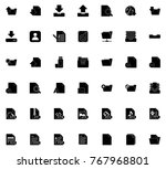 file icons set | Shutterstock .eps vector #767968801
