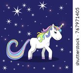 vector  isolated  unicorn ... | Shutterstock .eps vector #767971405