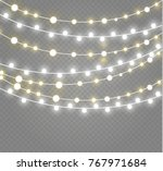 christmas lights isolated on... | Shutterstock .eps vector #767971684