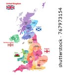 Vector Map Of United Kingdom...