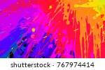 wide format abstract colorful... | Shutterstock .eps vector #767974414