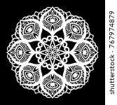 lace round paper doily  lacy...   Shutterstock .eps vector #767974879