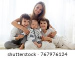 family portrait of mother and... | Shutterstock . vector #767976124