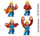 vector set of worker gorilla...   Shutterstock .eps vector #767979694