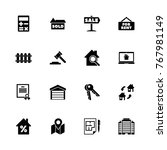 real estate icons   expand to... | Shutterstock .eps vector #767981149