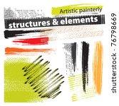 artistic painterly grunge...   Shutterstock .eps vector #76798669