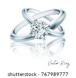 wedding rings of gold  silver ... | Shutterstock .eps vector #767989777