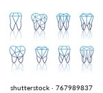 tooth logo set. vector... | Shutterstock .eps vector #767989837