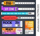 event entrance vector bracelets ... | Shutterstock .eps vector #767996101