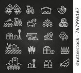 white farm icons and concepts... | Shutterstock .eps vector #767996167