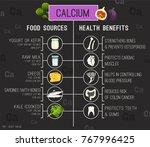 calcium medical infographic... | Shutterstock .eps vector #767996425