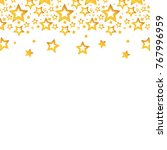 gold stars christmas decoration ...   Shutterstock .eps vector #767996959