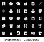 printing icons set | Shutterstock .eps vector #768001051