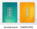 minimal abstract cover design... | Shutterstock .eps vector #768001981