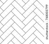 outline vintage wooden floor... | Shutterstock .eps vector #768003799