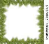 pine tree christmas frame | Shutterstock .eps vector #768006271