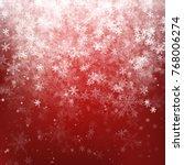 red christmas background | Shutterstock .eps vector #768006274