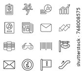 thin line icon set   report  24 ... | Shutterstock .eps vector #768008575