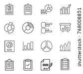thin line icon set   report ... | Shutterstock .eps vector #768008851