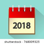 calendar for 2018 vector... | Shutterstock .eps vector #768009325