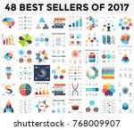 vector infographics set. 48... | Shutterstock .eps vector #768009907