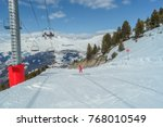 skiing in the mountains of  ski ... | Shutterstock . vector #768010549