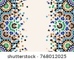 morocco disintegration template.... | Shutterstock . vector #768012025