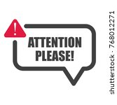 attention please  important... | Shutterstock .eps vector #768012271