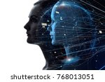 mental world of human concept. | Shutterstock . vector #768013051
