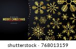 merry  christmas and happy new... | Shutterstock .eps vector #768013159