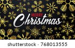 marry christmas and happy new... | Shutterstock .eps vector #768013555