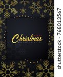 marry christmas and happy new... | Shutterstock .eps vector #768013567