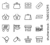 thin line icon set   wallet ... | Shutterstock .eps vector #768015295