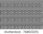 seamless pattern with black... | Shutterstock .eps vector #768023251