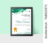 certificate or diploma of... | Shutterstock .eps vector #768023371