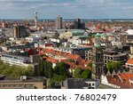 Stock photo view on the center of hannover from the new town hall neues rathaus with on the right the tower 76802479