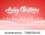 vector illustration  snowy... | Shutterstock .eps vector #768028141
