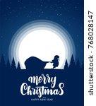 vector illustration  silhouette ... | Shutterstock .eps vector #768028147