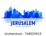 jerusalem  israel silhoutte...   Shutterstock .eps vector #768029815