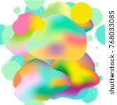 colorful modern abstract poster ... | Shutterstock .eps vector #768033085