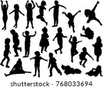 illustration with child... | Shutterstock .eps vector #768033694