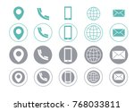 turquoise and grey vector... | Shutterstock .eps vector #768033811