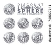 vector 3d christmas silver and...   Shutterstock .eps vector #768037141