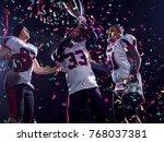 happy american football team... | Shutterstock . vector #768037381
