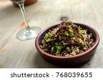 lebanese mujadara   rice and... | Shutterstock . vector #768039655
